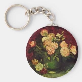 Van- Goghschüssel mit Pfingstrosen und Rosen, Schlüsselanhänger