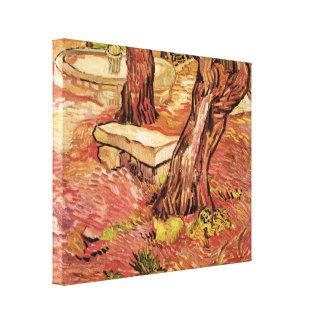 Van Goghsteinbank im Garten, St- Paulkrankenhaus Leinwanddruck