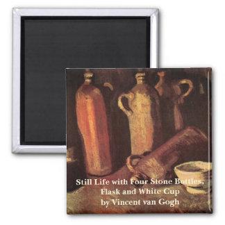 Van- GoghStillleben-Stein-Flaschen, Quadratischer Magnet