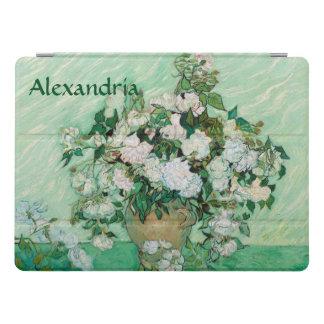 Van- Goghvase mit rosa Rosen-Vintager Blumen-Kunst iPad Pro Hülle