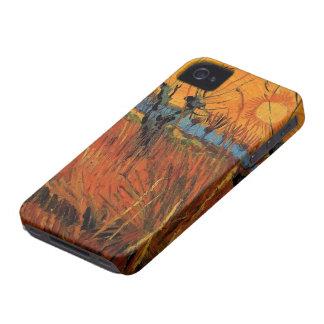 Van- Goghweiden am Sonnenuntergang, Vintager iPhone 4 Case-Mate Hülle