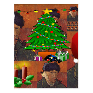 Van- Goghweihnachten Postkarte