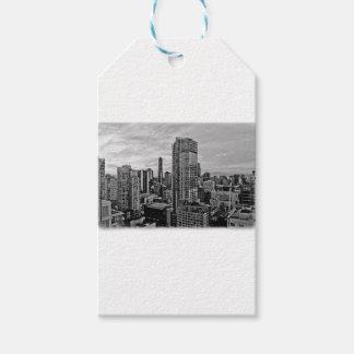 Vancouverschwarzweiss-Skyline Geschenkanhänger