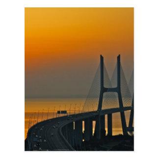 Vasco da Gama-Brücke Lissabon Portugal Postkarte