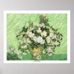 Vase avec des roses par Vincent van Gogh Poster