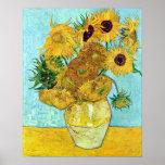 Vase avec douze tournesols par Vincent van Gogh Poster