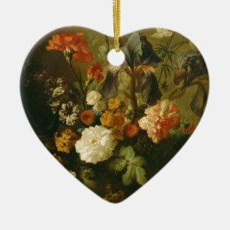Vase Blumen II Keramik Herz-Ornament