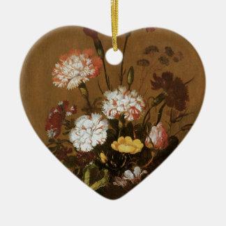 Vase Blumen Keramik Herz-Ornament