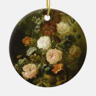Vase Blumen Rundes Keramik Ornament