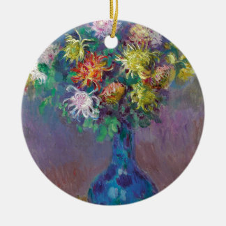 Vase Chrysanthemen Claude Monet Rundes Keramik Ornament