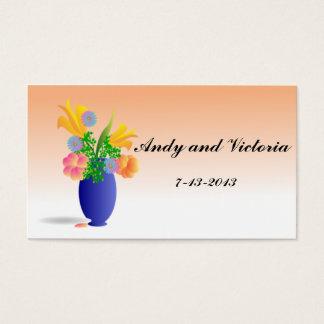 Vase de carte de remerciements de fleurs