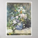 Vase de fleurs, Pierre-Auguste Renoir 1886 Poster