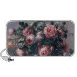 Vase de roses haut-parleur ordinateur portable