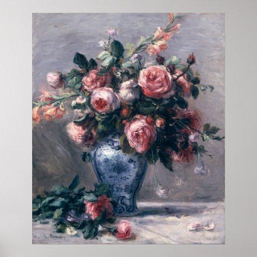 Vase de roses posters