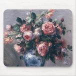 Vase de roses tapis de souris