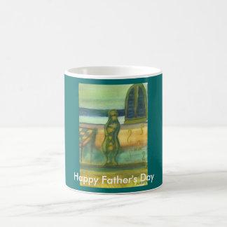 Vase durch Tabelle, der glückliche Vatertag Tasse