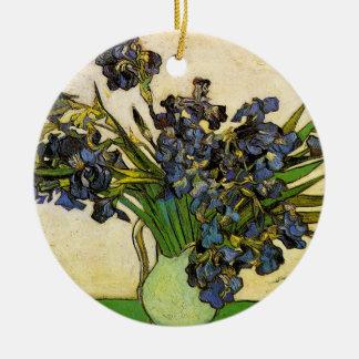 Vase Iris, Van Gogh Rundes Keramik Ornament
