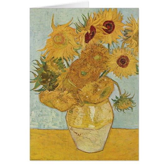 Vase mit 12 Sonnenblumen - Vincent van Gogh (1888) Karte