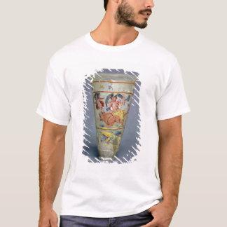 Vase mit der gemalten Dekoration, die Europa T-Shirt