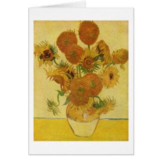 Vase mit fünfzehn Sonnenblumen, Van- Goghschöne Karte