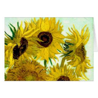 Vase mit zwölf Sonnenblumen, Van- Goghschöne Kunst Grußkarte