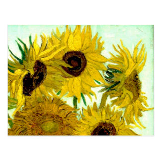 Vase mit zwölf Sonnenblumen, Van- Goghschöne Kunst Postkarte