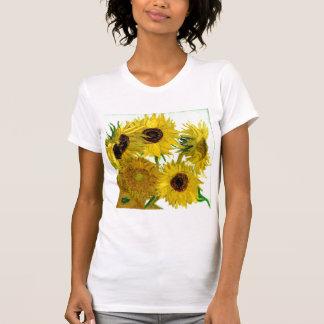 Vase mit zwölf Sonnenblumen, Van- Goghschöne Kunst T-Shirt