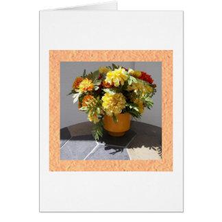 Vase voll Ringelblumen Karte