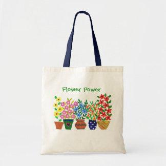 Vases modernes de fleurs et de texte sac en toile budget