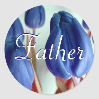 Vater-blaue Tulpe-Aufkleber