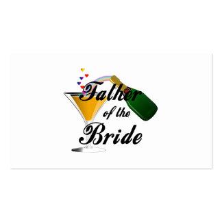 Vater des Braut-Champagne-Toasts Visitenkarte
