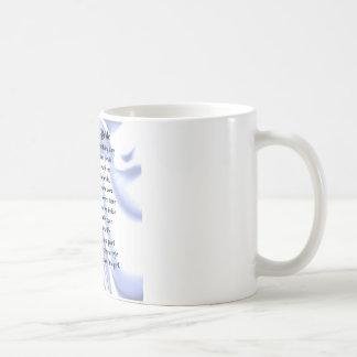 Vater des Braut-Gedichtes - blaue Seide Kaffeetasse