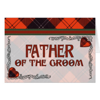 Vater des Bräutigam-Einladung Ramsay Tartan Karte