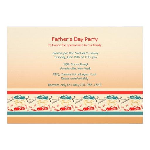 Vater fasst der Vatertags-Einladung ab