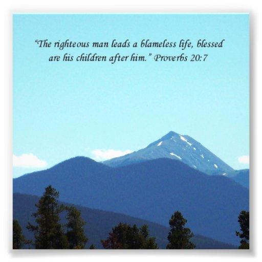 Vater-Geschenk-Sprichwort-20:7 Schrifts-Gebirgsdru Fotodrucke