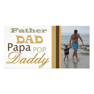Vater in der unterschiedlichen SprachenFoto-Karte Fotokarte