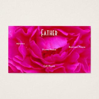 Vater-rosa Rosen-Visitenkarte Visitenkarten