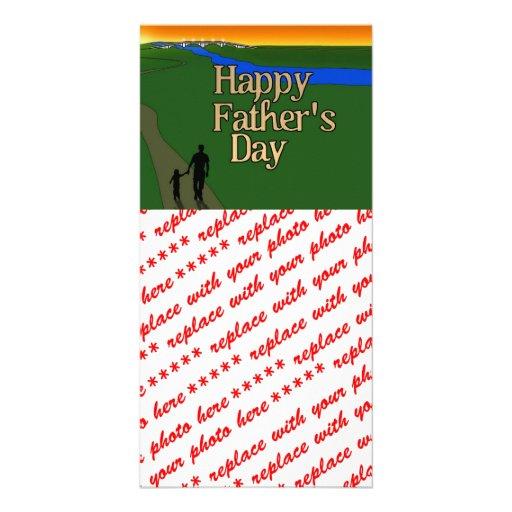 Vater und Kind - der Vatertag Photokarte