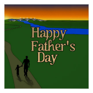 Vater und Kind - der Vatertag Posterdrucke