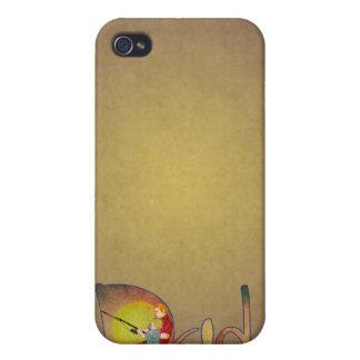 Vater und Sohn, die künstlerischen Textentwurf iPhone 4 Cover