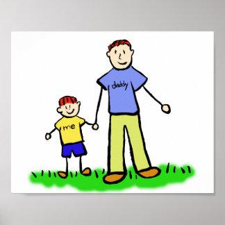 Vater-und Sohn-kundenspezifisches Poster
