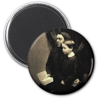 Vater und Sohn Runder Magnet 5,1 Cm