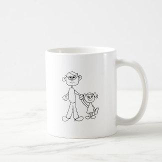 Vater und Tochter Kaffeetasse