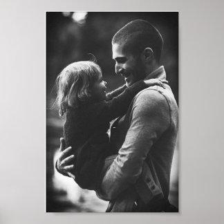 Vater und Tochter Plakatdruck