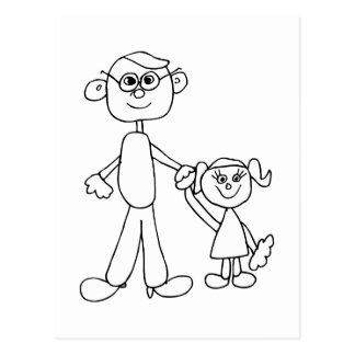 Vater und Tochter Postkarten