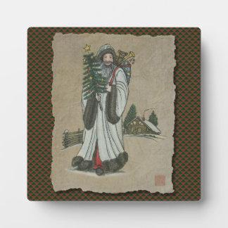 Vater-Weihnachten u. Spielwaren Fotoplatte