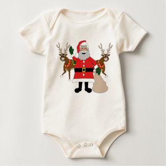 Vater Weihnachten und Karibu Baby Strampler