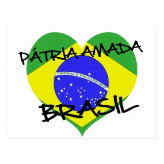 Vaterland Brasilien Liebt Postkarte