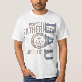 Vaterschafts-athletischer Abteilungs-Vati-Vintager T-Shirt