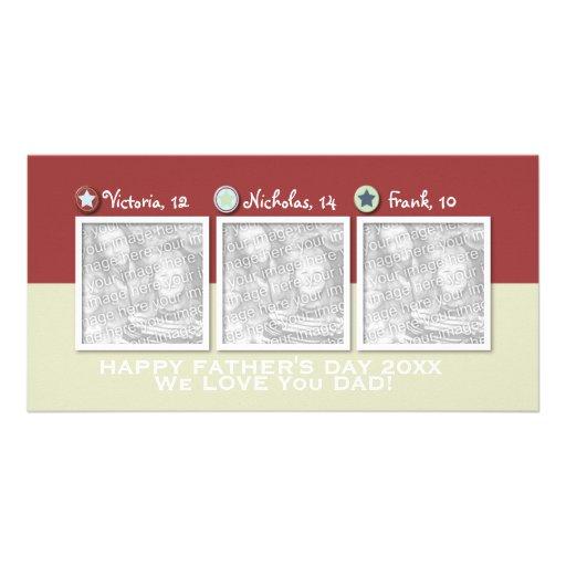 Vatertag - ADDIEREN Sie IHRE FOTOS - 3 Sterne Fotokartenvorlage